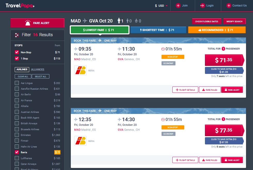 Iberia Zboruri ieftine cu TravelPapa